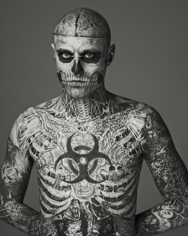 his full body tattoo