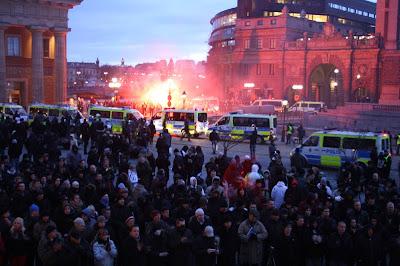 Нацистская демонстрация в Стокгольме