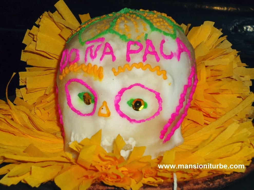 Sugar Skull at Restaurante Doña Paca in Pátzcuaro