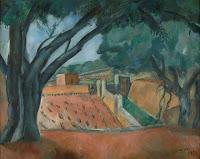 JOAQUIM SUNYER Viñas y algarrobos 1920