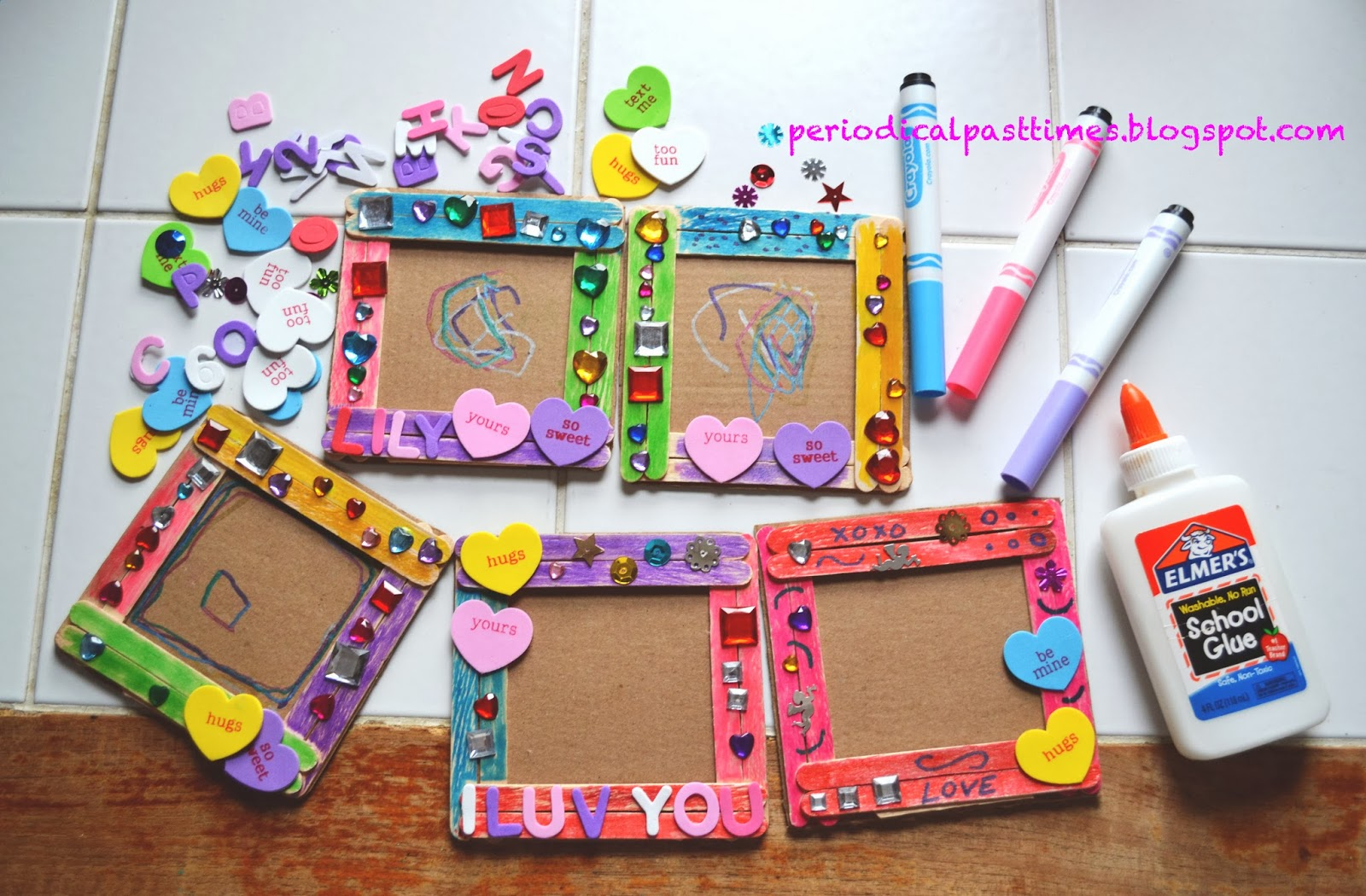 Periodical Past Times: Preschool Project: Valentine\'s Day Frames