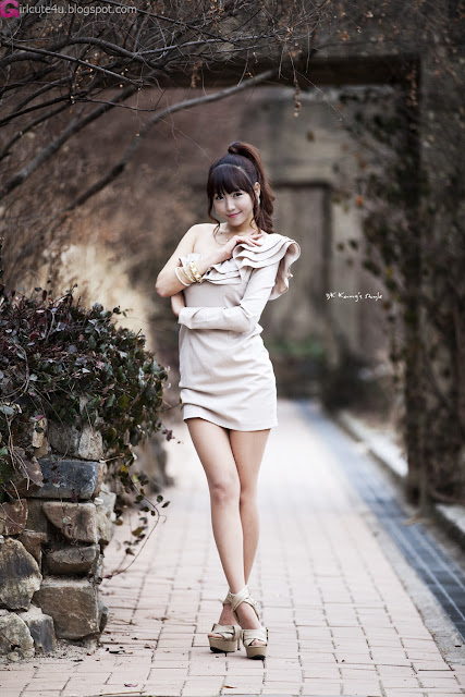 5 Lee Eun Hye - One Shoulder Mini Dress-very cute asian girl-girlcute4u.blogspot.com