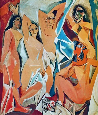 les demoiselles davignon pablo picasso essay The les demoiselles d'avignon (1907, museum of modern art, new york), is an oil on canvas painting by pablo picasso this is an image of five nudes grouped around a still life of the five figures, four of the figures are facing the viewer.