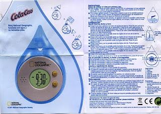 instrucciones reloj agua national geografic Cola cao