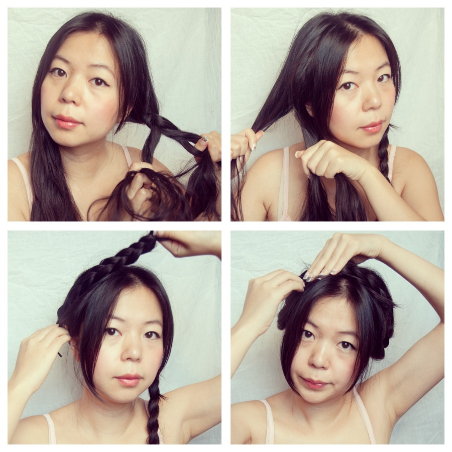 heidi milkmaid braid hair tutorial