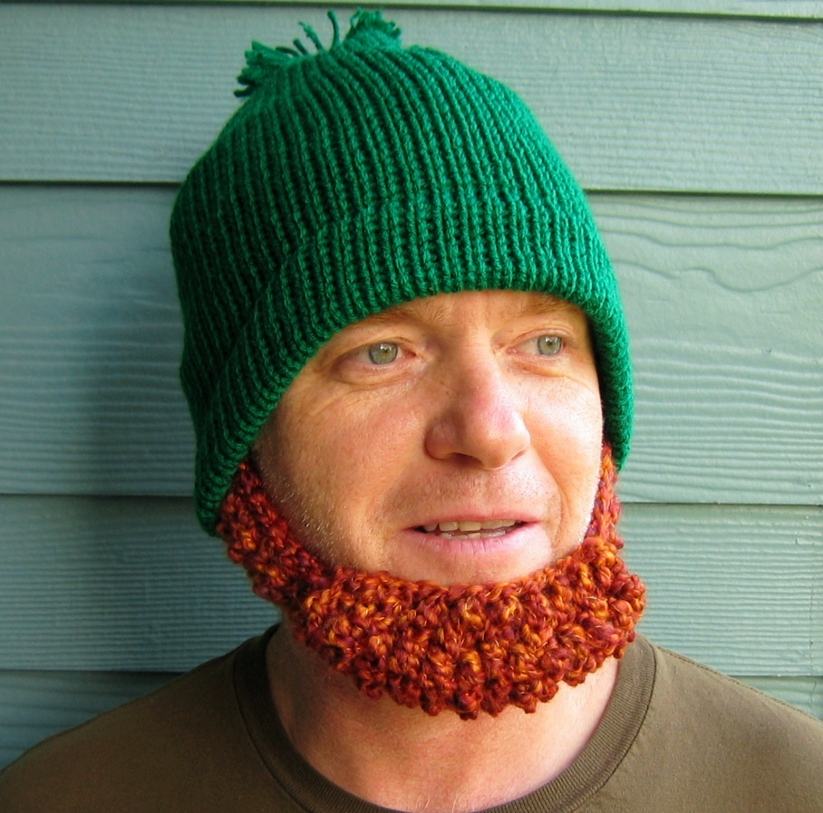 Prayer Shawl Patterns Free Knit : .: St. Patricks Day Beard Beanie Hat- YES!
