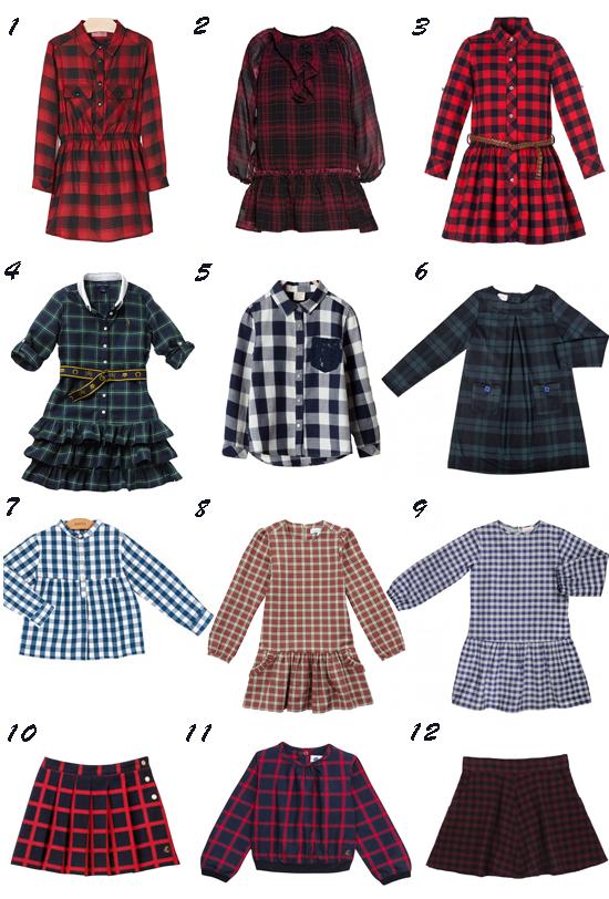 Tendencias moda niña otoño 2014: Cuadros