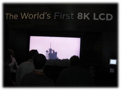 8K LED TV CES 2012