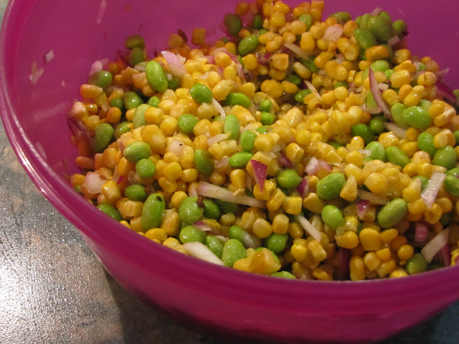 Food for Fuel: Corn, Edamame, and Avocado Salad
