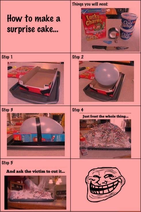 Surpise Prank Cake DIY