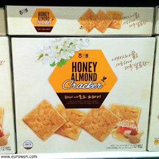 Galletas con almendras y miel