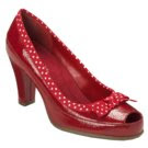 aerosoles polka dot red shoes on sale