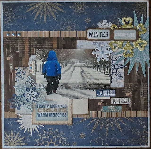 November 2015 Sketch Challenge by Megan Gourlay for BoBunny using Whiteout