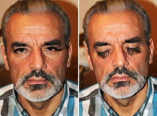 صورة الأكراني صاحب أطول رموش