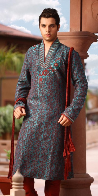 Mehndi Kurta For Mens : Mehndi dress for men new kurta design s b g