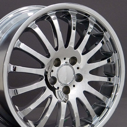New wheels and rims mercedes benz 16 spoke oem replics wheels for Chrome rims for mercedes benz