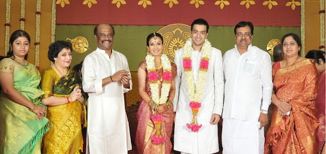 Rajinikanth's family in wedding