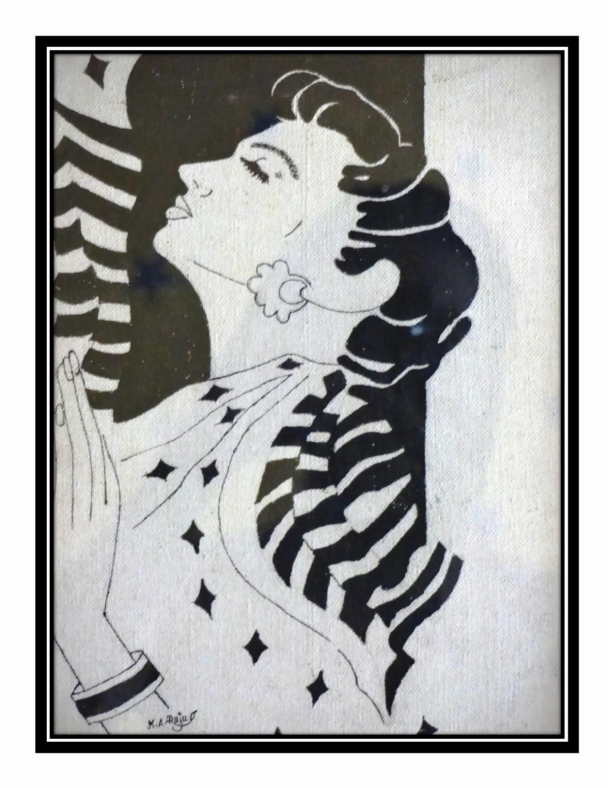 பெண் ஓவியம்