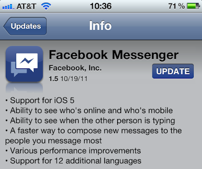 Facebook Messenger 1.5