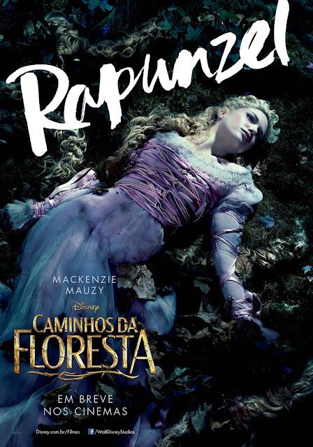 """""""Caminhos da Floresta"""" (Into The Woods) posteres brasileiros Mackenzie Mauzy"""
