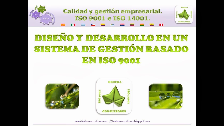Diseño y desarrollo ISO 9001