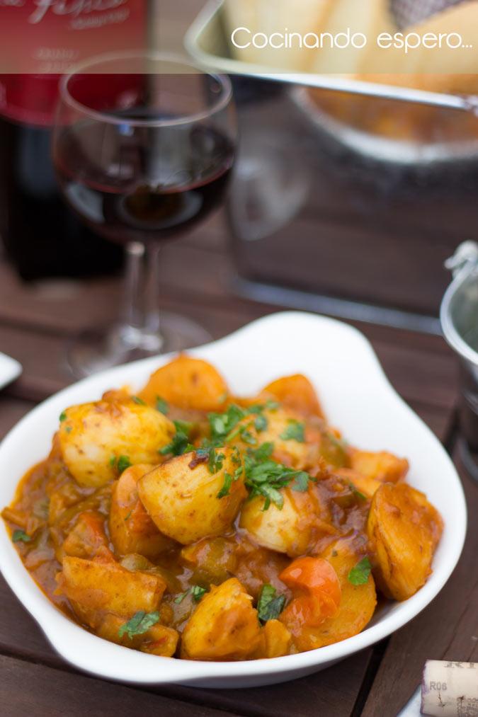 patatas a la española, cocinando espero