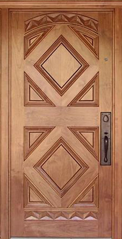 Wood design ideas latest kerala model wood single doors for Latest design for main door