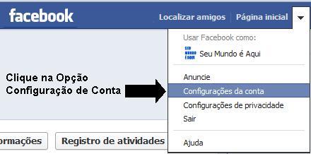 Alterar senha no Facebook