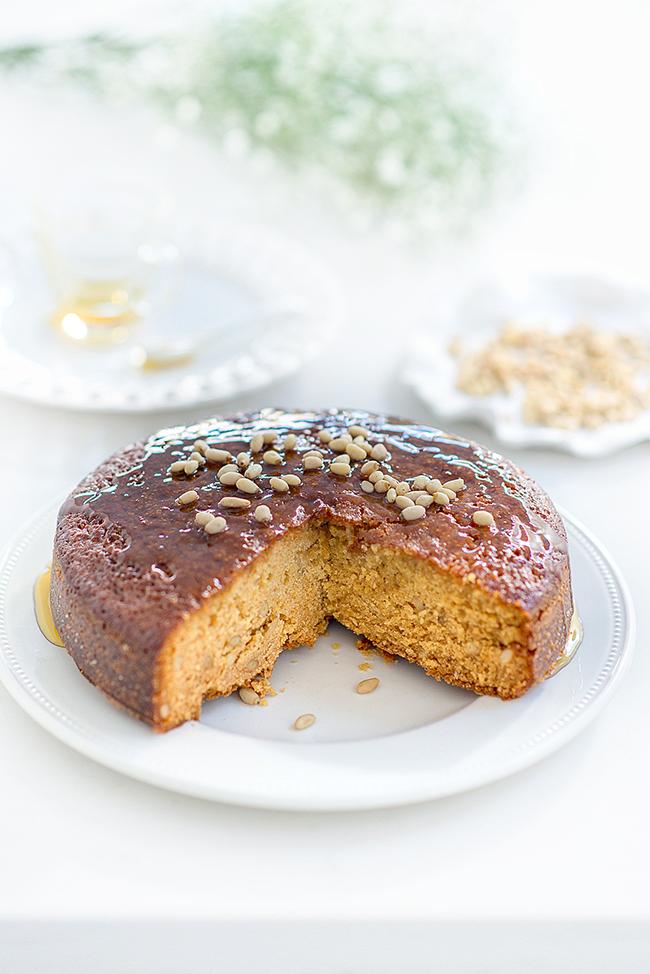 Greek Honey and pine nut cake