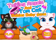 Talking Tom and Angela Cat Babies