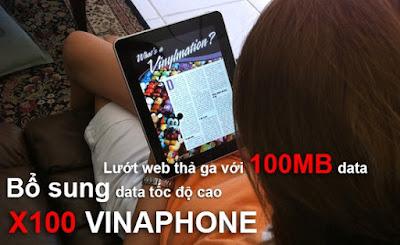 Đăng ký thêm 3G Vinaphone gói cước X100 Vinaphone