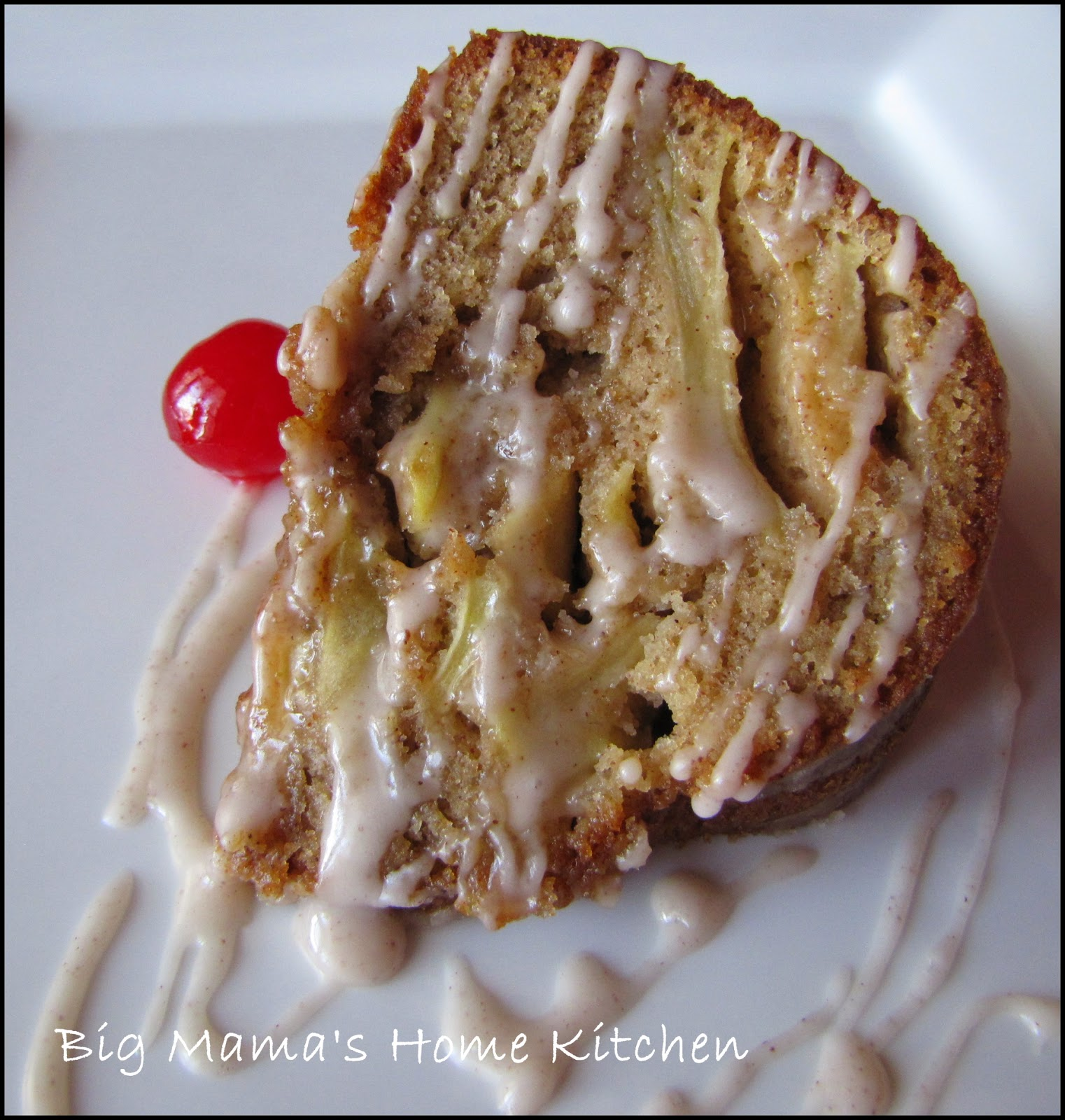 Big Mama's Home Kitchen: Apple~Cinnamon Bundt Cake with Cinnamon Glaze