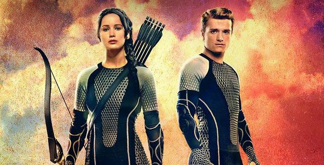 Katniss Everdeen and Peeta Mellark - The Mockingjay Part 1