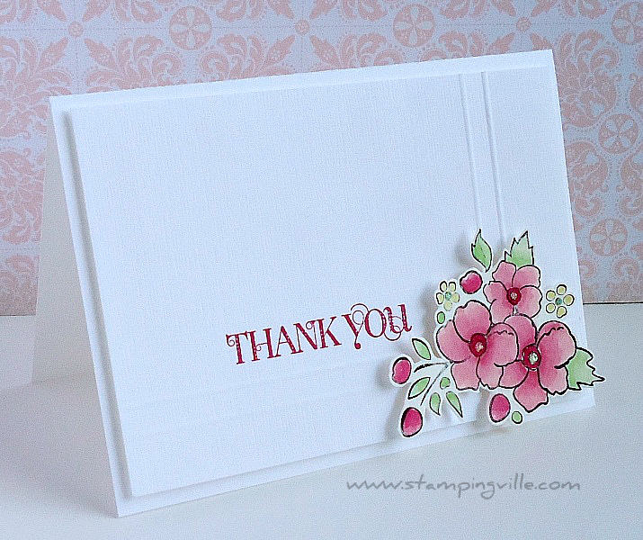 Stampin' Up! Elegant Thank You Note Card