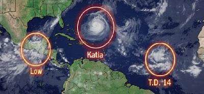 Nicht viel Neues am Morgen des 7. September 2011, Katia, Nate, Maria, US-Ostküste Eastcoast, Verlauf, Vorhersage Forecast Prognose, Bermudas, aktuell, September, Hurrikansaison 2011, 2011,