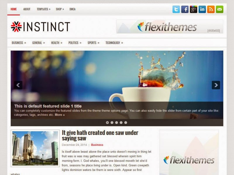 Instinct - Free Wordpress Theme