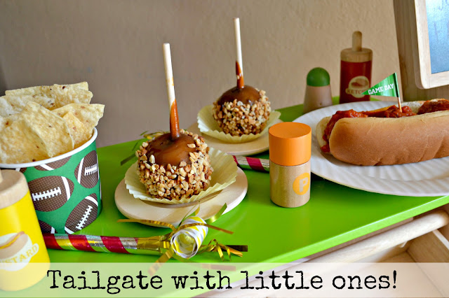 Mommy Testers Tailgate with children nachos, candy apples and turkey meatballs #ChooseSmart