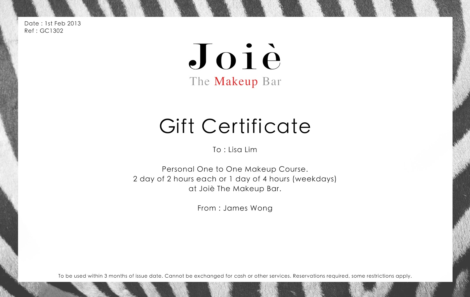 Make Up Gift Certificate Template Iwantingsarticle Media Sports