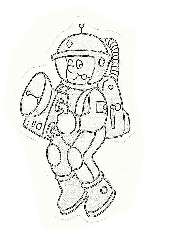 Increíble Página Para Colorear De Cuerpo De Astronauta Colección ...