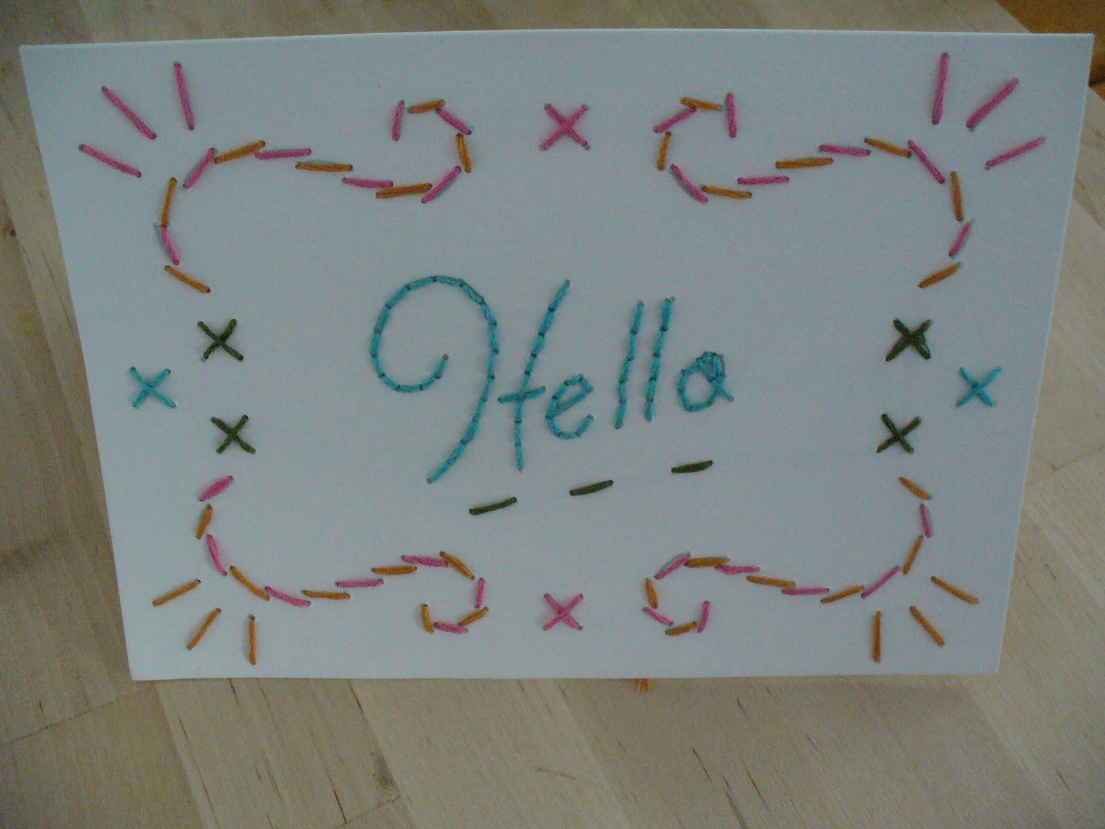 The feisty redhead embroidered greeting card kristyandbryce Image collections