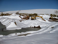 Gold mining in the snow of Montana