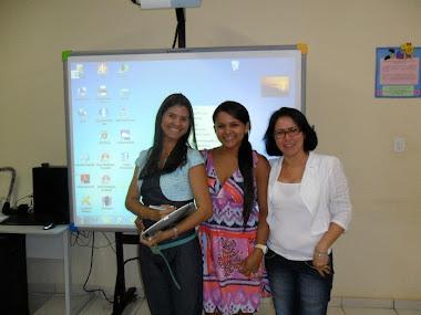 Professoras Leticia, Fábia e Iracy