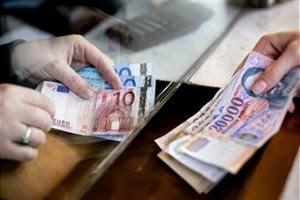 Website met altijd de actuele geldwisselkoersen van Hongarije