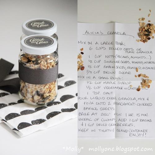 molly homemade granola gl ck im glas. Black Bedroom Furniture Sets. Home Design Ideas
