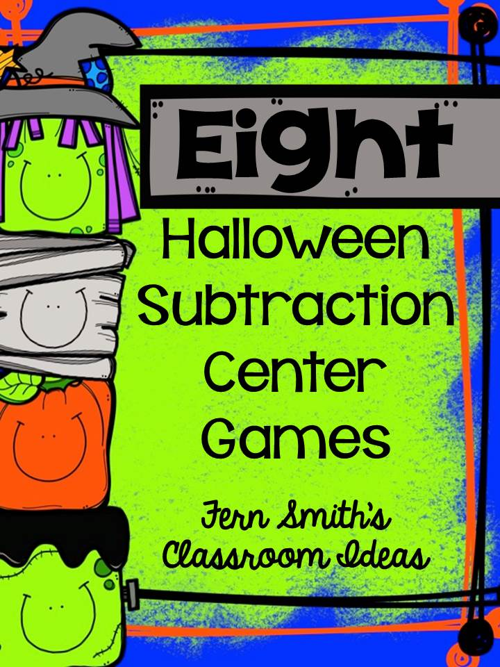 Fern Smith's Classroom Ideas Halloween Subtraction Center Games for Eight Different Subtraction Concepts at Teacherspayteachers.