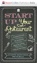 "We are pleased to announce the release of our book ""Start Up your Restaurant"""