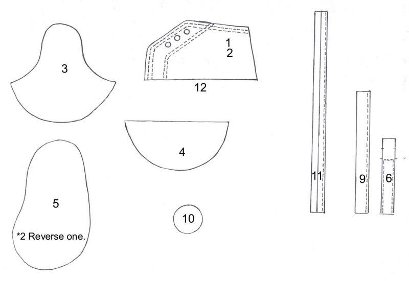 fondant baby shoe pattern