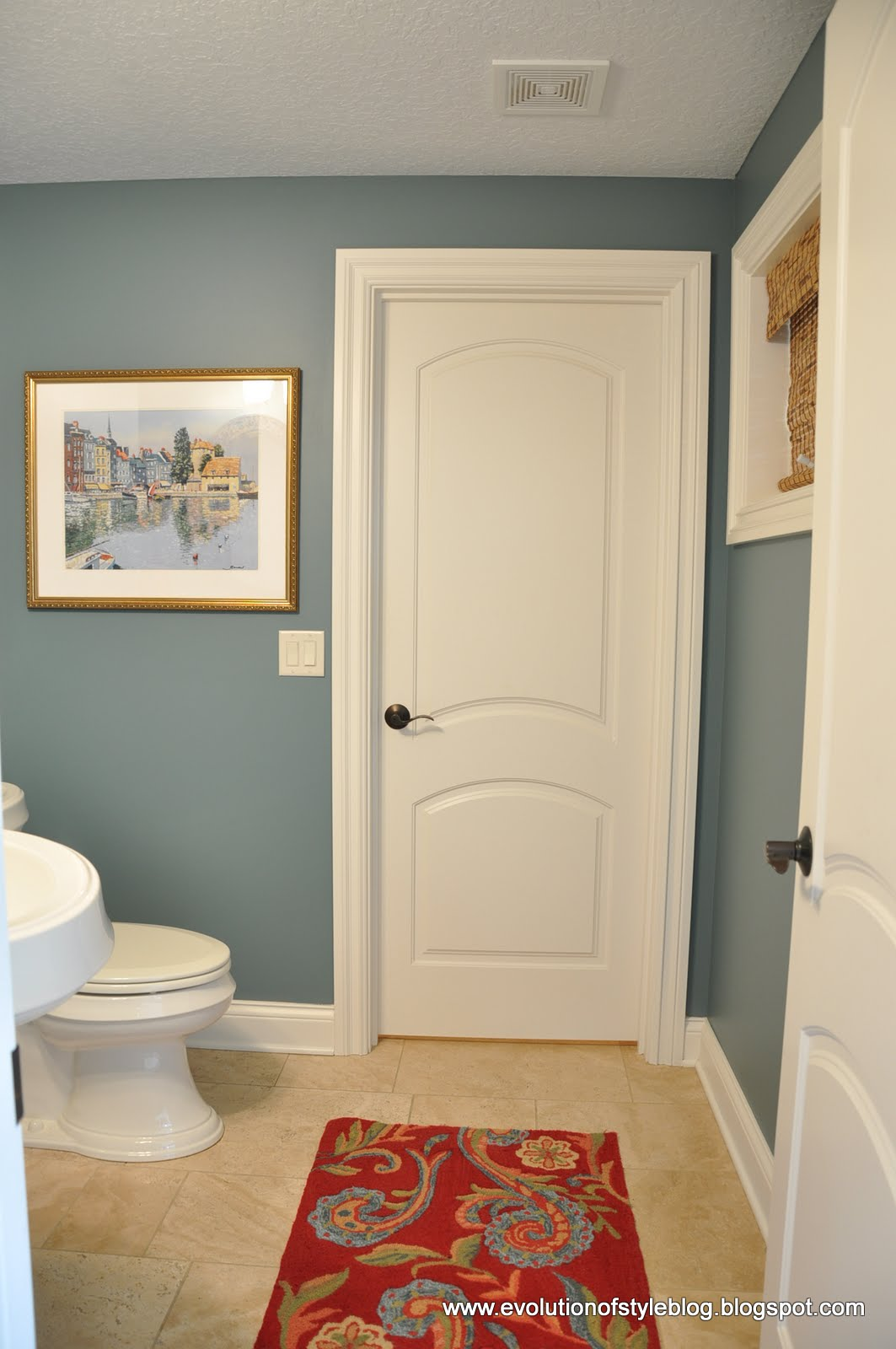 Thrifty powder room makeover - Interior paint ideas for small rooms ...