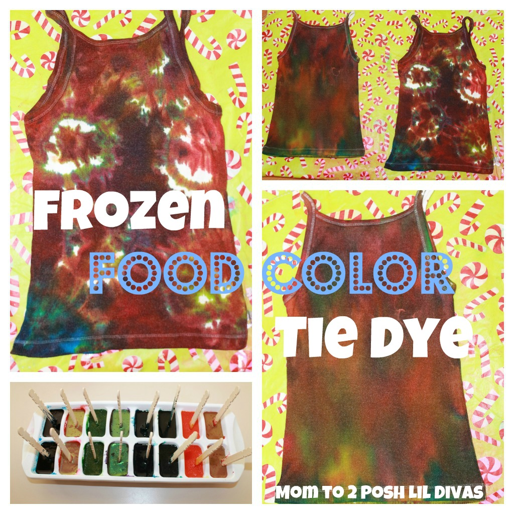 Mom to 2 Posh Lil Divas: Homemade Frozen Food Color Tie Dye Shirts
