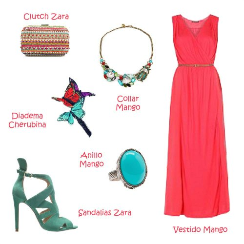 Complementos para vestido coral boda